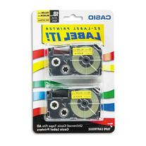 Casio - Tape Cassettes for KL Label Makers, 18mm x 26ft,