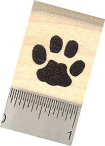 Cat Paw Print Rubber Stamp