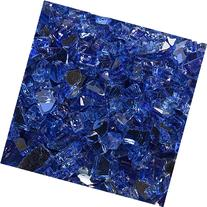 """High Luster, 1/4"""" Reflective Tempered Fire Glass in Meridian"""