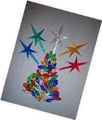 Ceramic Christmas Tree 100 Medium Twist Lights & 5 Stars by