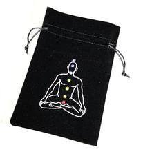 Chakra Symbol Luxury Velvet Drawstring Tarot or Oracle Card