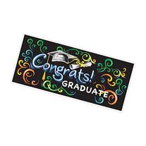 "Chalkboard Graduation Wall Banner & Photo Prop, 60"" x 27"