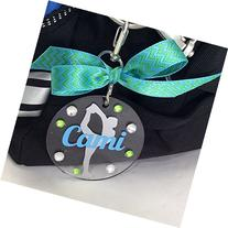 Cheerleader Hitch Bag Tag Personalized with Your Name and