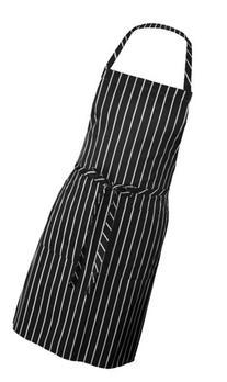 Chef Works Chalk Stripe Bib Apron