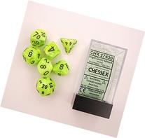Chessex Dice: Polyhedral 7-Die Vortex Dice Set - BRIGHT