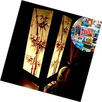Chinese Bamboo Table Lamp Night Light Lighting Shade Floor