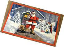 """Christmas Doormat Non Slip Rectangular 24"""" X39"""" Xmas Santa"""
