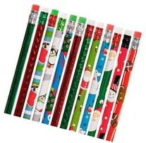 Christmas Holiday Theme Pencils Varied - 2 Dozen