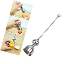 Chunshop Stainless Steel Egg Topper Shell Cutter Opener Boiled Raw Egg Open Kitchen Tool