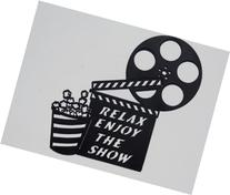 Clapboard, Movie Reel Relax Enjoy the Show Home Movie
