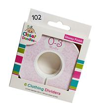 Closet Doodles C102 Roses Girl Baby Clothing Dividers Set of
