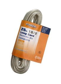 Coleman Cable 9430-89-21 18/2 25-Foot Lamp Cord, Silver