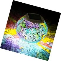 Color Changing Solar Powered Glass Ball Led Garden Lights,