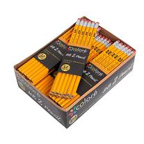 Colore #2 Pencils With Eraser Tops - HB Graphite/No 2 Yellow