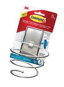 Command Hair Dryer Holder, Satin Nickel, 1-Hair Dryer Holder