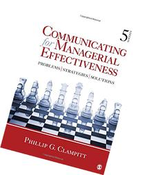 Communicating for Managerial Effectiveness: Problems |