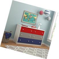 Cosco Kids Furniture Kaleidoscope 6 Drawer Dresser, Classic/