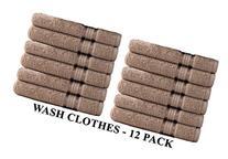 Cotton Craft Ultra Soft 12 Pack Wash Cloths 12x12 Linen