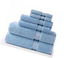 Cotton Craft Ultra Soft 6 Piece Towel Set Light Blue,