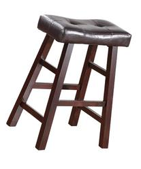"Country Series Counter Stool - 24""H - in Dark Cherry Finish"
