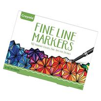 Crayola Adult Coloring, 40Ct Fine Line Markers