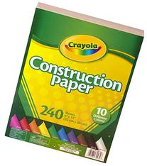 Crayola Construction Paper Bulk, 10 Colors, Great for Crafts