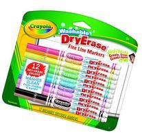 Crayola; Washable Dry-Erase Markers; Art Tools; 12 ct.; Fine