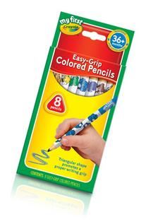 Crayola My First Easy-Grip Colored Pencils, 8 Non-Toxic,