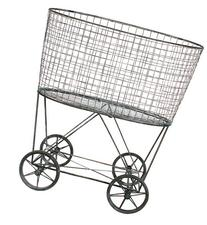 Creative Co-Op DE2757 Metal Vintage Laundry Basket with