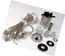 Creative Hobbies Silver Finish Bottle Lamp Adapter Kit with