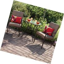 Crossman 3 Piece All Weather Square Outdoor Bistro Furniture