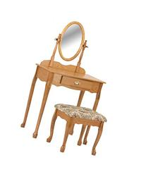 Crown Mark Vanity Set, Oak