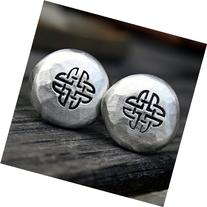 Cufflinks - Celtic Knot - Handcrafted Pewter Cuff links