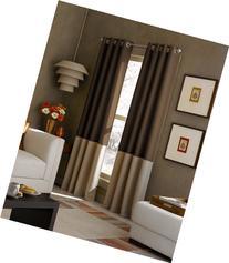 Curtainworks Kendall Color Block Grommet Curtain Panel, 84-