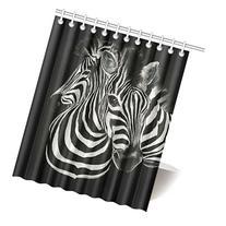 Cute Zebra Waterproof Polyester Fabric 60