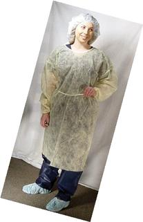 DUKAL Isolation Gown, Yellow, Economy, 50/Ca, DUK301SP