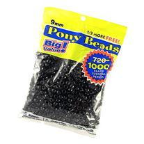 Darice 06121-2-04 1000 Count Pony Beads, 9mm, Opaque Black