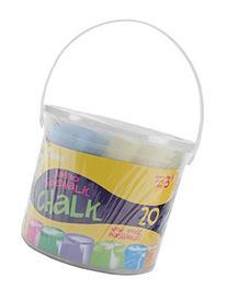 Darice Assorted Sidewalk Chalk, Jumbo, 20-Pack