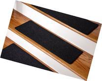"Dean Carpet Stair Treads 23"" x 8"" - Black - Set of 13"