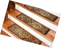 Dean Premium Carpet Stair Treads - Panel Kerman Chocolate