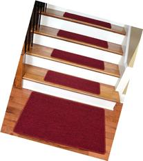 "Dean Serged DIY Carpet Stair Treads 27"" x 9"" - Cardinal Red"