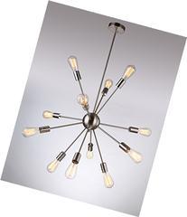 Deking 12 Lights Pendant Light C-UL US Listed Silver Modern
