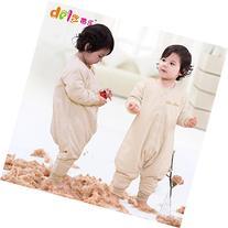 Dele Spring Baby Sleepsiut Bamboo Fiber Collar Kid Sleep Bag