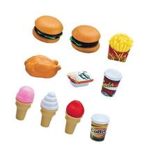 Deluxe Fast Food Lunch Play Set for Kids with Burgers,