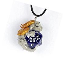 Design Your Own D20 Dragon Pendant, Custom Dice Dragon