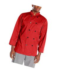 Dickies Men's Paolo Classic Chef Coat Basic Long Sleeve with