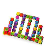 Dimple Bristle Stacking Blocks for Toddlers, 60-Pieces