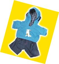 """Dinosaur"" Hoodie w/Jeans Teddy Bear Clothes Outfit Fits"