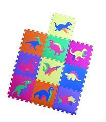 Dinosaur Zoo Educational Foam Puzzle Floor Mat for Kids + 10