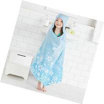 Disney Frozen Elsa Hooded Towel Wrap for Swimming Pool, Bath